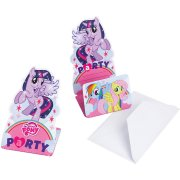 8 Invitations My Little Pony