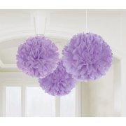 3 Boules Papier Fleurs Lilas