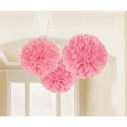3 Boules Papier Fleurs Roses