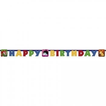 Guirlande lettres Happy Birthday Animaux de la Forêt