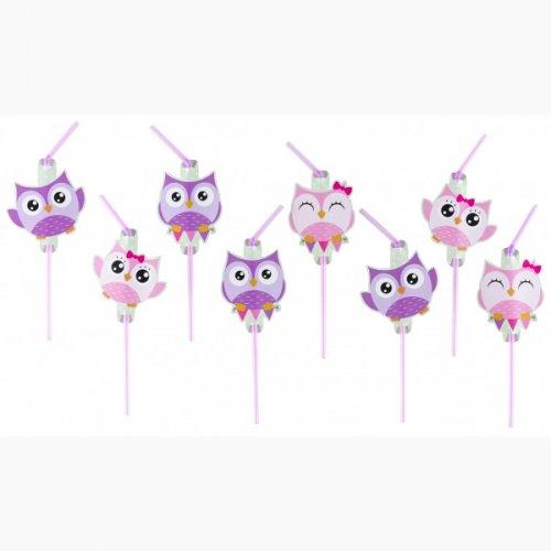 8 Pailles Sweet Hiboux