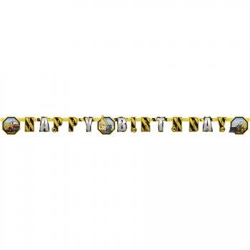 Guirlande lettres Happy Birthday Chantier de Construction