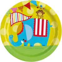 Contient : 1 x 8 Assiettes Fisher Price Circus