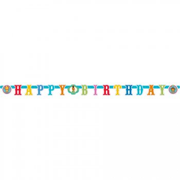 Guirlande lettres Happy Birthday Fisher Price Circus