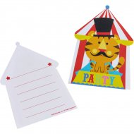 8 Invitations Fisher Price Circus