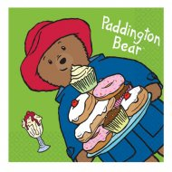 16 Serviettes Ours Paddington