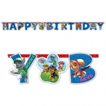 Guirlande lettres Happy Birthay Pat  Patrouille