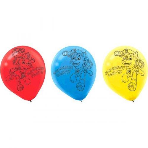 6 Ballons Pat Patrouille