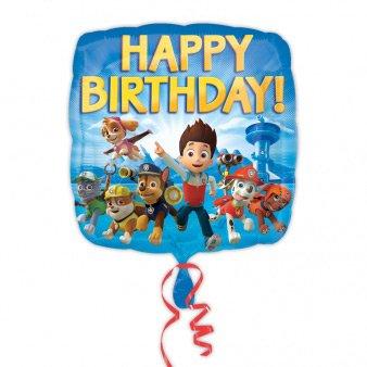 Ballon à Plat Pat Patrouille Happy Birthay