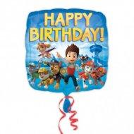 Ballon Gonflé à l'Hélium Pat Patrouille Happy Birthay