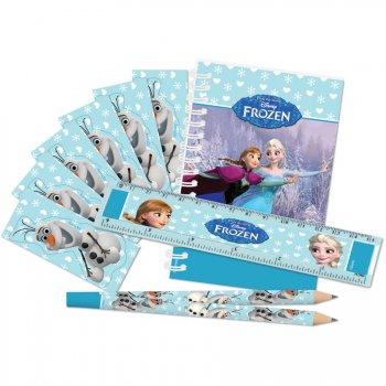 Set cadeaux papeterie Reine des Neiges pour 5