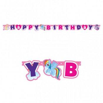 Guirlande lettres Happy Birthday My Little Pony