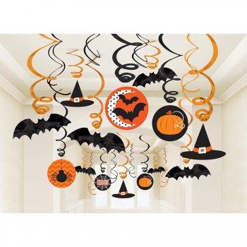 30 Guirlandes Spirales Halloween Folie
