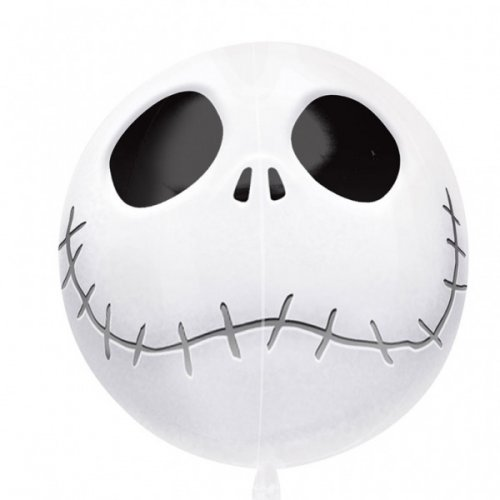 Ballon Orbz Gonflé à l Hélium Squelette Mr Jack