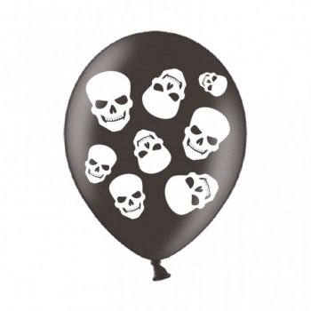 6 Ballons Têtes de Morts