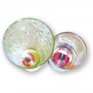 12 Stickers yeux fonds de verre