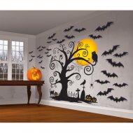 30 Décorations Scène Murale Nuit d'Halloween