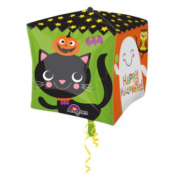 Ballon Cube Mylar Happy Halloween