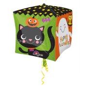 Ballon Cube H�lium Happy Halloween