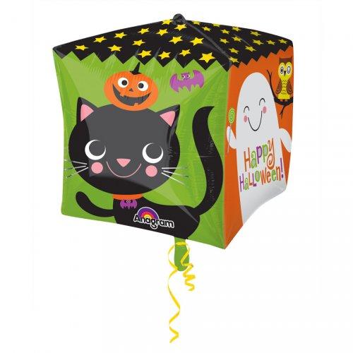 Ballon Cube Gonflé à l Hélium Happy Halloween