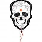 Ballon Géant Tête de Mort Baroque