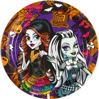 Contient : 1 x 8 Assiettes Monster High Halloween