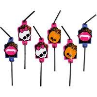 Contient : 1 x 8 Pailles Monster High Halloween