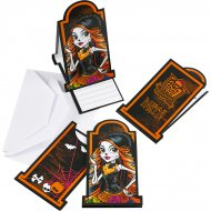 6 Invitations Monster High Halloween