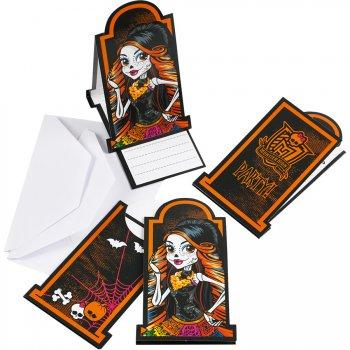 6 Invitations Monster High Halloween