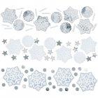 Confettis Flocons Argent et Blanc