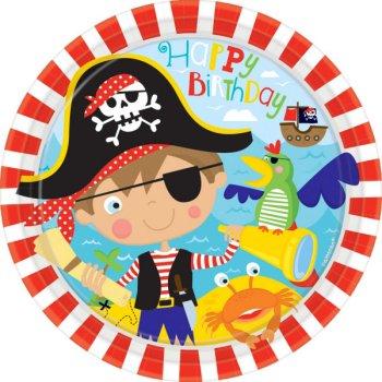 8 Assiettes Petit Pirate
