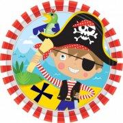 8 Petites Assiettes Petit Pirate