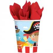 8 Gobelets Petit Pirate