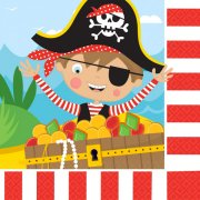 16 Serviettes Petit Pirate
