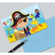 8 Invitations Petit Pirate