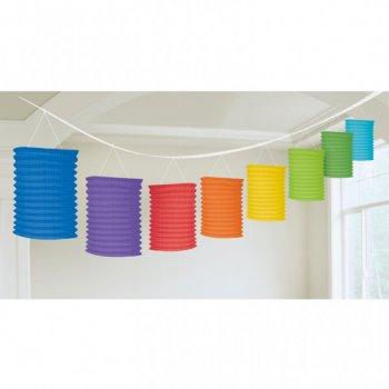 Guirlande 8 Lanternes Rainbow