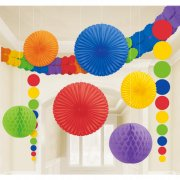Set 9 D�corations et guirlande Rainbow