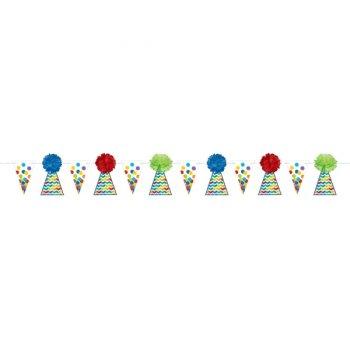 Guirlande Fanions et Boules de Papier multicolores