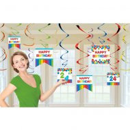 12 Guirlandes Spirales Happy Birthday