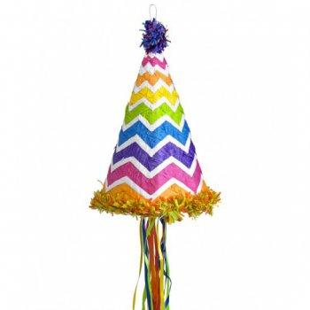 Pull Pinata Chapeau Rainbow