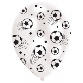 6 Ballons Football Noir et Blanc