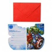 8 Invitations Avengers Rassemblement 2