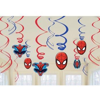 12 Guirlandes Spirales Spiderman