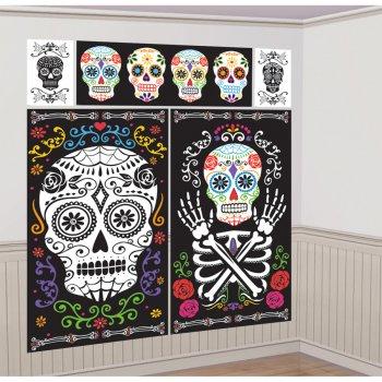 Scène Déco murale Jour des Morts (1,80 m)