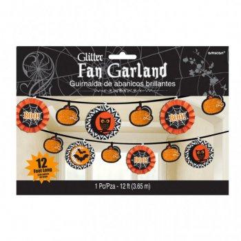 Guirlande Halloween Boo Orange et Noir