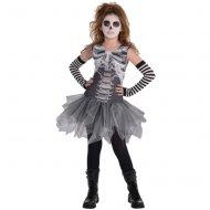 Déguisement Miss Squelette Noir/Blanc - Taille 8-10 ans