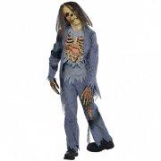 D�guisement de Squelette Zombie Cheveux longs