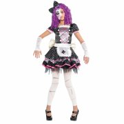 Déguisement Halloween Doll Rose/Noir Taille 4-6 ans