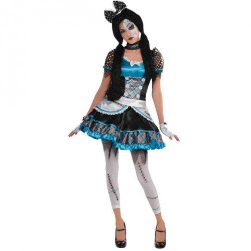Déguisement Halloween Doll Bleu/Noir