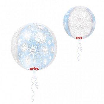 Ballon Orbz Hélium Flocons de Neige